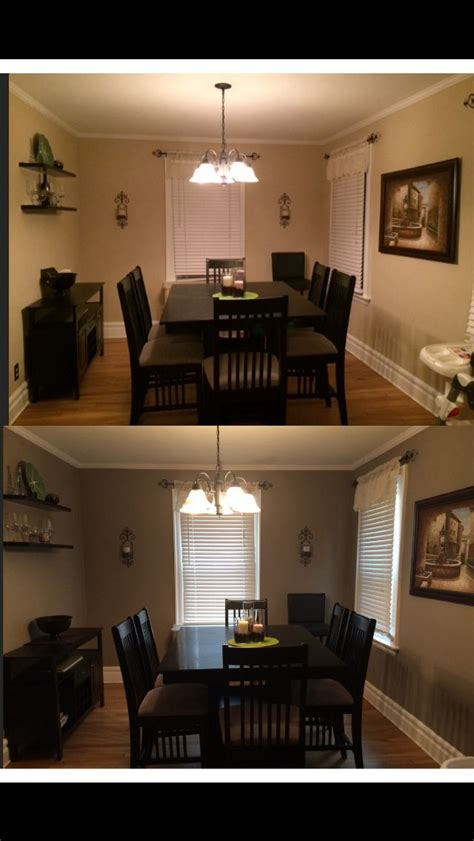 makeover   dining room color behr paint rustic