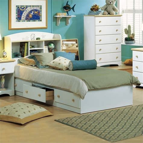 twin bookcase storage bed south shore newbury kids twin bookcase storage bed set in