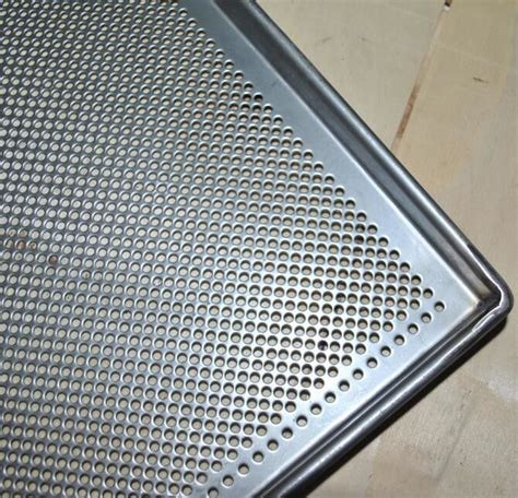 metal perforated baking serving tray  oven stainless steel food tray