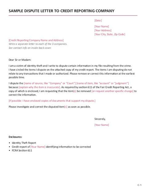 credit card dispute letter example experian suious