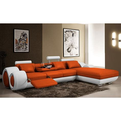 canapé relax en cuir canapé d 39 angle relax en cuir 5 places roll