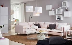 Salon Gris Et Rose : inspiration peinture un int rieur cosy et contemporain gr ce la couleur ~ Preciouscoupons.com Idées de Décoration