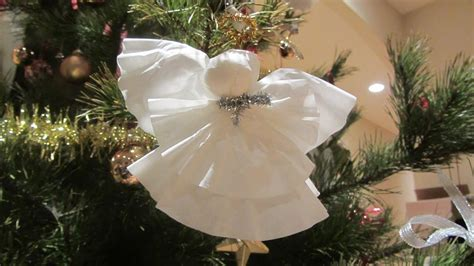 coffee filter christmas angel ornament  angel topper
