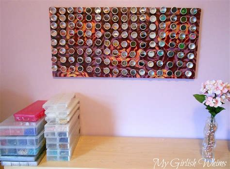 Mod Podge Kitchen Table by Fabric Covered Magnet Board For Bead Organization Ikea