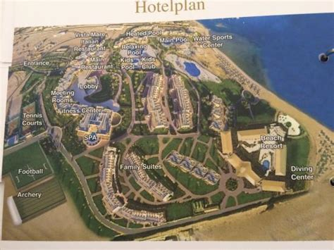 karte des hotels bild von cleopatra luxury resort makadi
