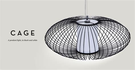 cage pendant light in black and white review designer