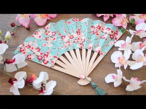 how to make a hand fan paper fan making easy tutorial hand fan that can fold