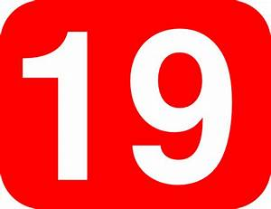 Number 19 Red Background Clip Art at Clker.com - vector ...