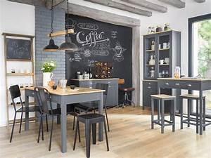 Tableau Ardoise Cuisine : l 39 esprit tableau noir en ardoise dans la cuisine joli place ~ Teatrodelosmanantiales.com Idées de Décoration