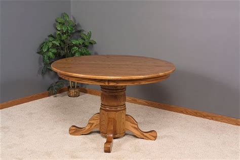 "Amish Round Dining Room Table 60"" Solid Top"