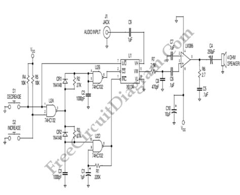 Audio Amplifier With Logarithmic Digital Volume Control
