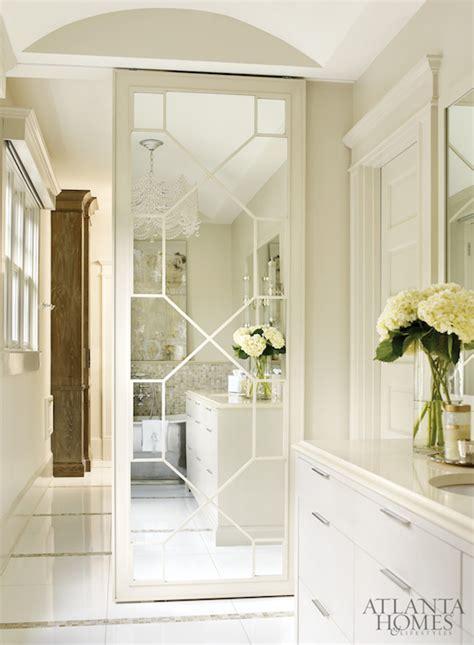 Geometric Mirrored Closet Door Design Ideas