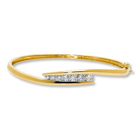 Diamond Bangle Bracelet 1 Ct Tw Roundcut 14k Yellow Gold. Masculine Wedding Rings. 14k White Gold Ankle Bracelet. 2 Carat Diamond Earrings. Luv Aj Necklace. Jewelry Tanzanite. Tattoo Wedding Rings. Wholesale Chains. Vintage Style Diamond Bands