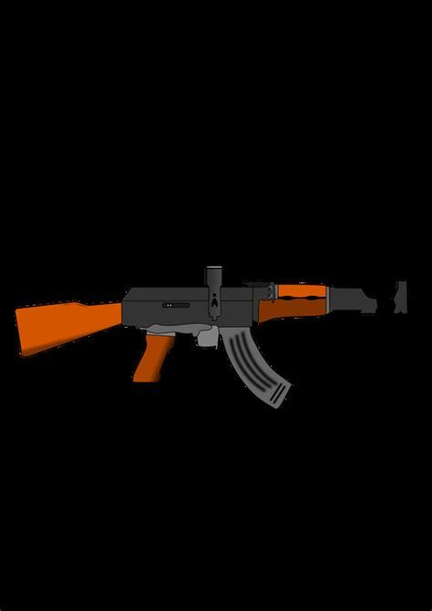 Ak 47 Clipart Ak 47 Gun Vector Clipart Image Free Stock Photo