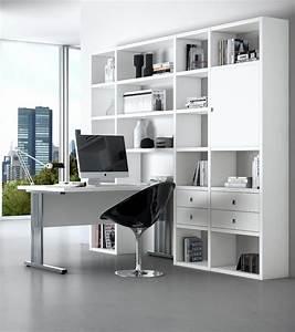 Schrankwand Mit Integriertem Schreibtisch : b rowand aktenschrank mit schreibtisch wei matt ~ Watch28wear.com Haus und Dekorationen