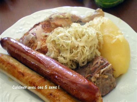 cuisiner sans viande choucroute avec viande mais sans porc cuisiner