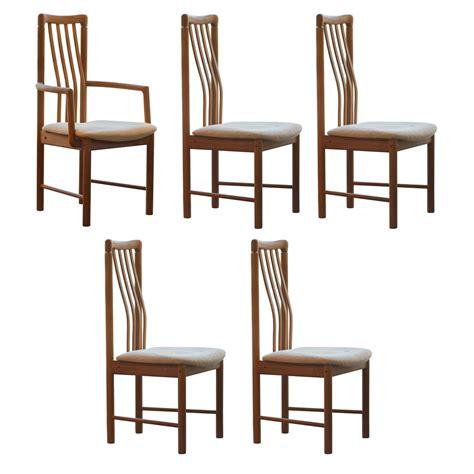 set of five benny linden teak dining chairs at 1stdibs