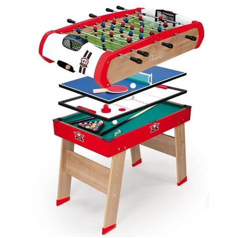 babyfoot de table smoby table multi jeux powerplay 4 en 1 achat vente baby foot cdiscount