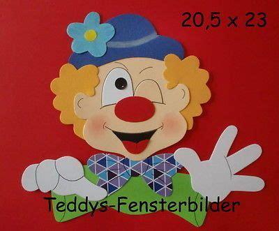 basteln fasching vorlagen teddys fensterbilder 8 180 clownkopf 4 tonkarton clowns tonkarton fensterbilder