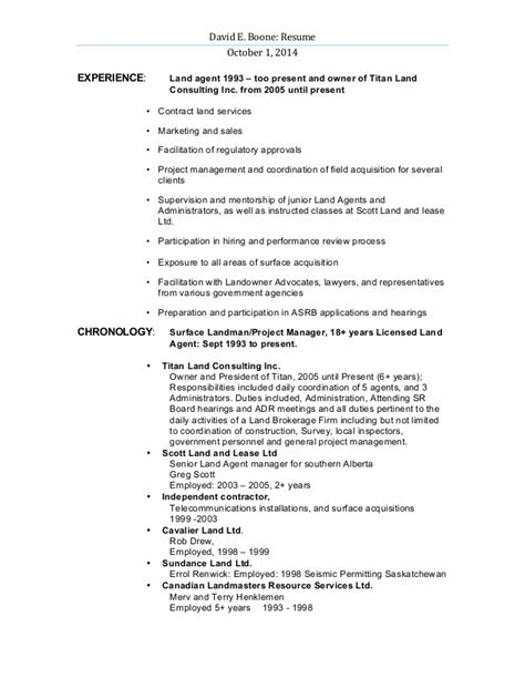 Petroleum Landman Resume Exles by Landman Resume Cerescoffee Co