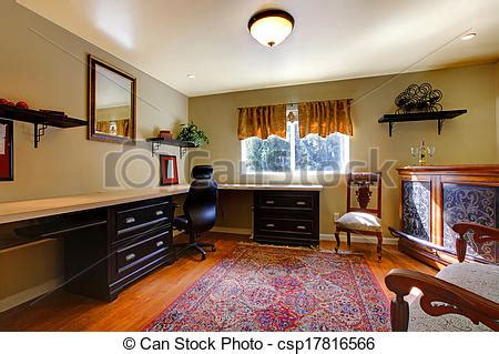 Stock Bild Von Antikes, Elegant, Zimmer, Buero Elegant