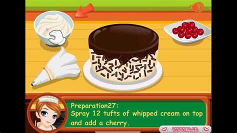 jeux de fille jeux de cuisine tessa fait une kirschtorte jeux gratuits de cuisine