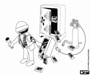 ausmalbilder polizei playmobil  malvorlage polizei