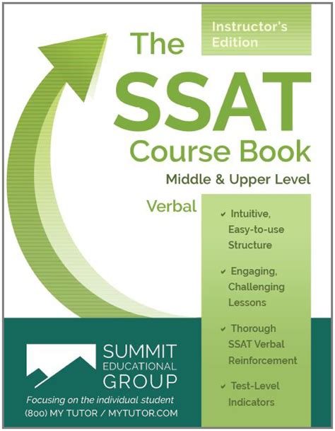 ssat  book verbal skills instructors edition