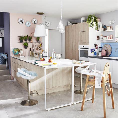 cuisines delinia meuble de cuisine décor bois delinia nordik leroy merlin