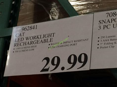 costco work light costco 962841 cat led worklight rechargeable tag