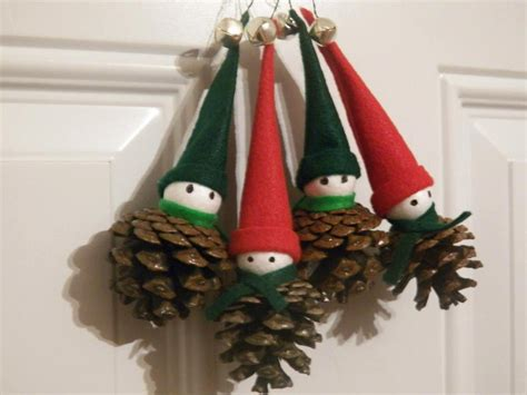 christmas pine cone elf ornaments christmas decoration