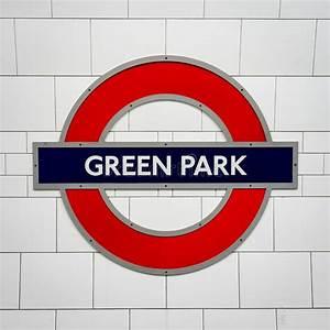 Green Park Tube Station Sign - London Underground Roundel ...