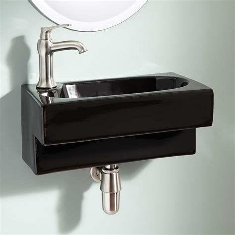 narrow wall mount sink choosing the best narrow bathroom sinks