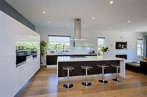 Hotte Pour Ilot Central : id es de cuisine moderne style l gance pour votre maison ~ Melissatoandfro.com Idées de Décoration