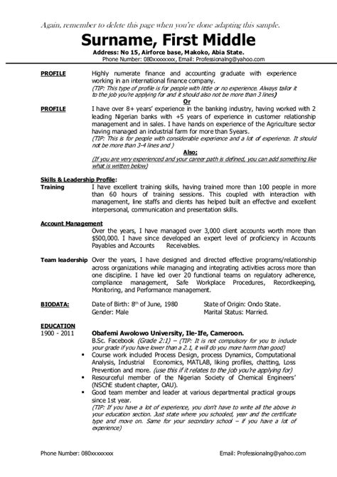 What Does A Resume Profile Consist Of by A Complete Guide For Creating A Great Resume