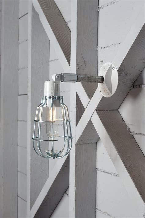 industrial wall light outdoor wire cage exterior wall