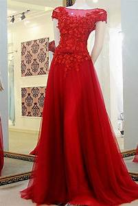 cap sleeve prom dress appliques the shoulder tulle