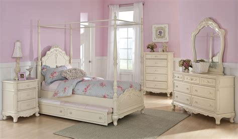 Youth Furniture Bedroom Sets by Cinderella Youth Canopy Poster Bedroom Set From