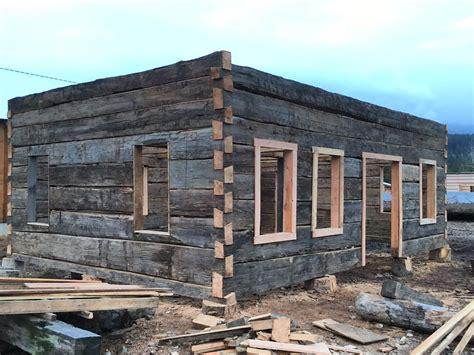 sale hand hewn heritage log shell  building    wonderful  unique cabin