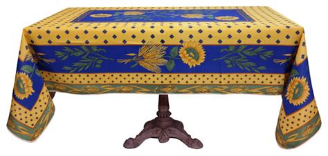 French Provencal Polyester Tablecloth Greek Table Settings Kitchen Bar Stools And Sets Center Island Tables Cork Large Dinner Chairs Set Repaint Tall Glass