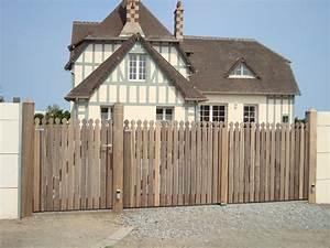 Portail En Bois Pas Cher : portail bois pas cher modele de portail coulissant en fer ~ Melissatoandfro.com Idées de Décoration
