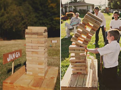 Backyard Jenga by The Best Yard For Your Wedding The Pink