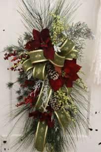 christmas swag church floral arrangements pinterest