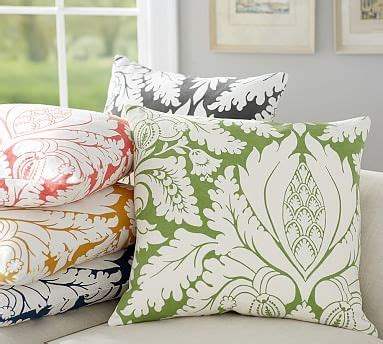 discontinued pottery barn pillow covers damask print pillow cover pottery barn