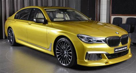 Bmw M760li Looks Like A Big M3 In Austin Yellow