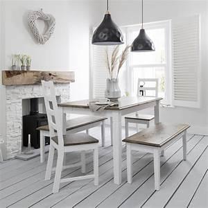 Canterbury, Dining, Table, In, White, U0026, Dark, Pine