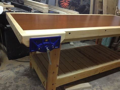 home built workbench   solid core door