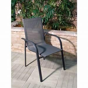 Fauteuil Jardin Aluminium : fauteuil de jardin aluminium et textil ne gris marina bricozor ~ Teatrodelosmanantiales.com Idées de Décoration