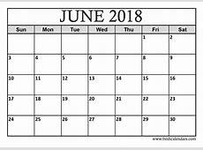 15+ Best June 2018 Calendar Printable Templates