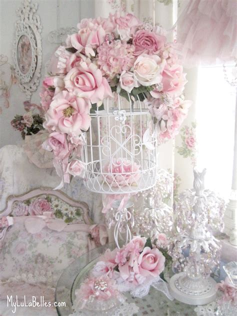 shabby chic birdcages floral bird cage mylulabelles com shabby chic pinterest